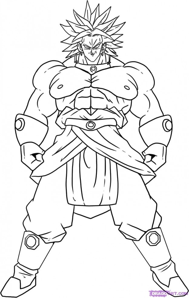624x985 Best Broly Dragon Ball Z Coloring Pages Free Printable