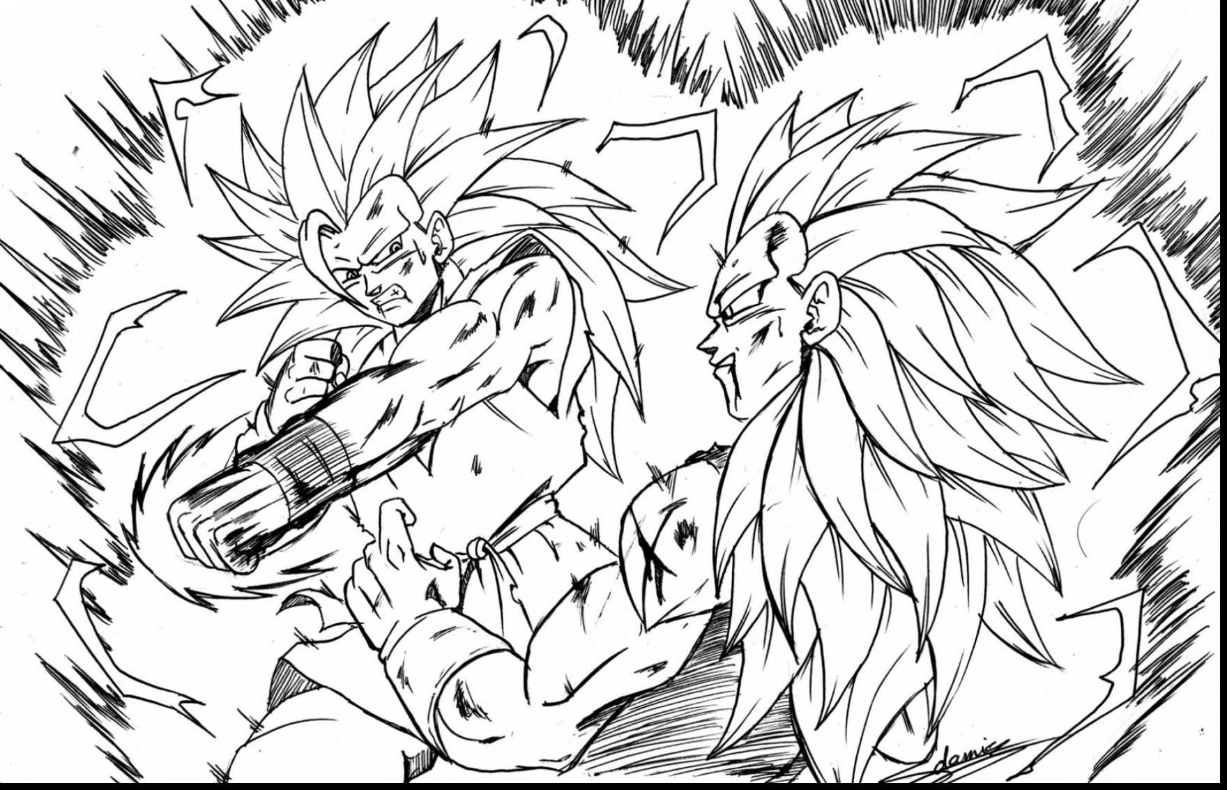 1760x1133 Dragon Ball Z Coloring Page Printable