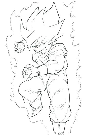 381x550 Dragon Ball Z Coloring Page Printable Dbz Dragon Ball Z Coloring