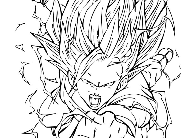 787x576 Dragon Ball Z Coloring Pages
