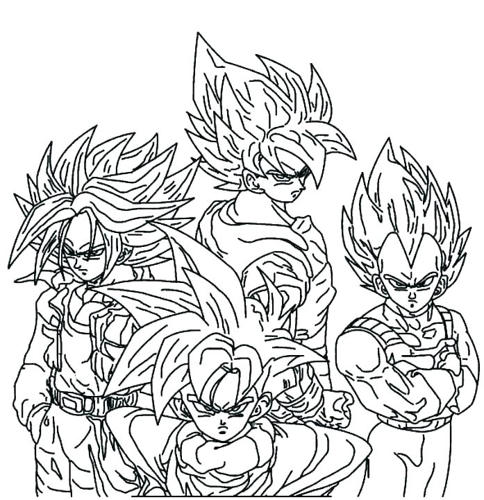 697x721 Dragon Ball Z Coloring Pages And Pages A Dragons Dragon Ball Z