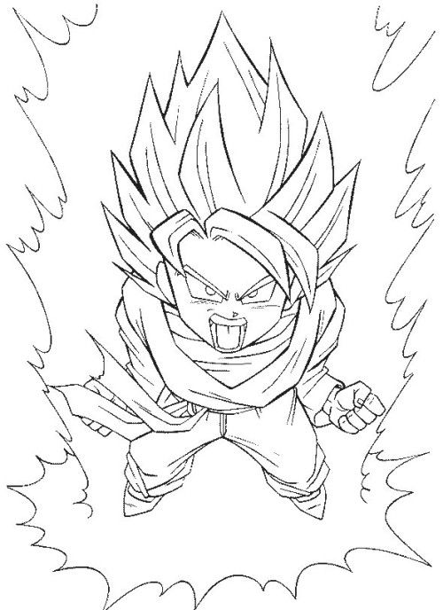 500x688 Dragon Ball Z Coloring Pages Printable