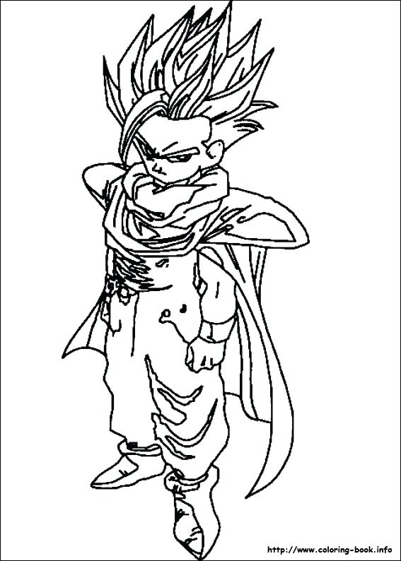 567x794 Dragon Ball Z Coloring Pages