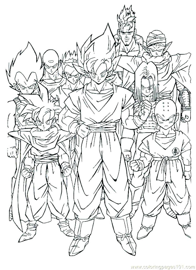 746x1024 Dragon Ball Z Gt Colouring Pages Printable Coloring Dragon Ball Z