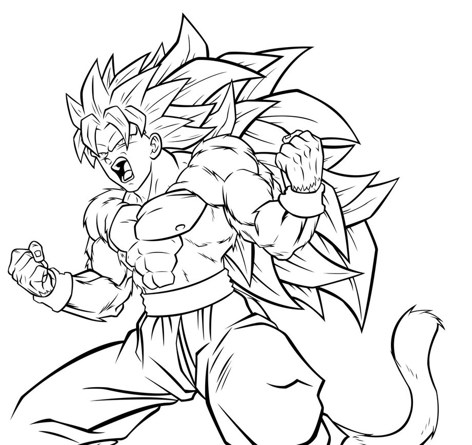 920x869 Dragon Ball Z Coloring Pages Super Saiyan