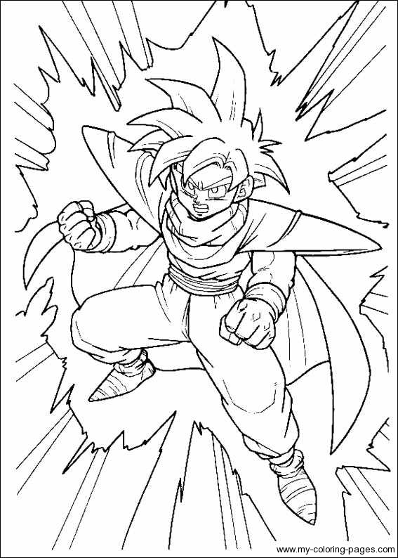 567x794 Exciting Dragonball Z Coloring Pages For Free Colouring