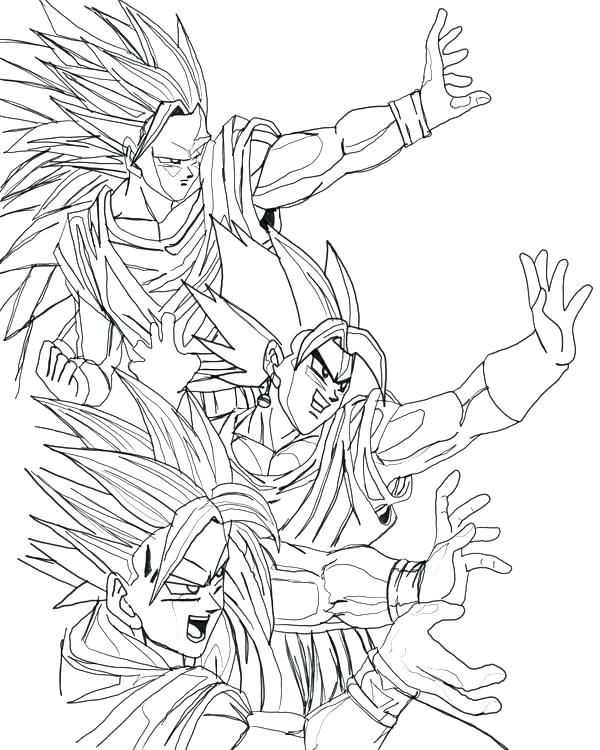 600x750 Printable Dragon Ball Z Coloring Pages Printable Dragon Ball Z