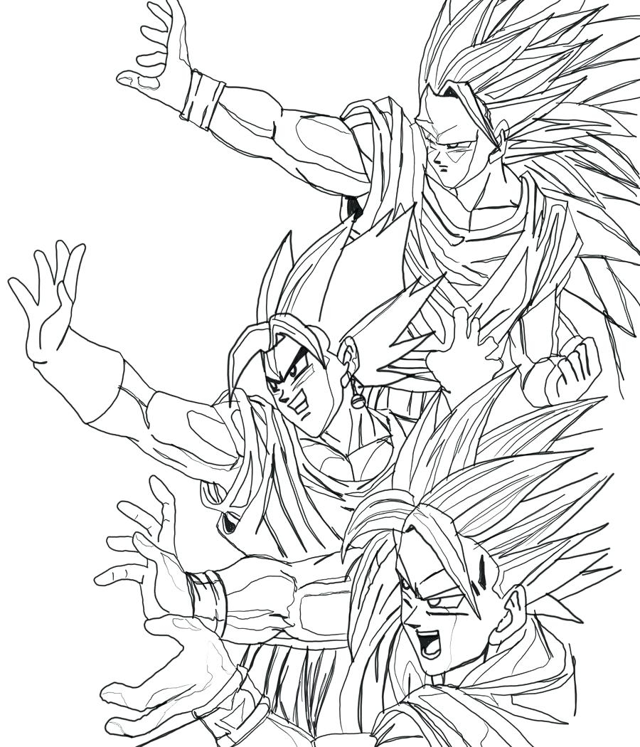 900x1050 Cool Dragon Ball Z Coloring Pages Games New And Dragonball Free