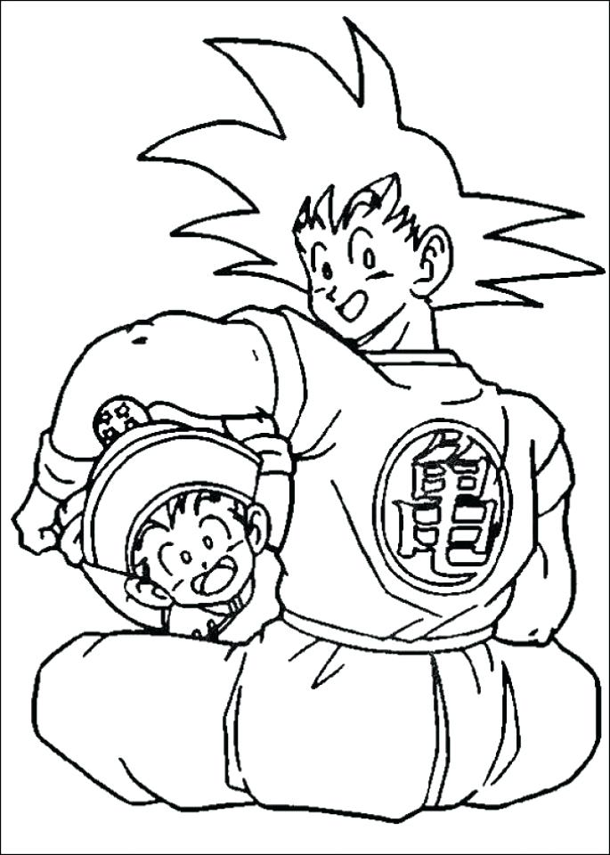 685x960 Dragon Ball Z Coloring Pages Printable