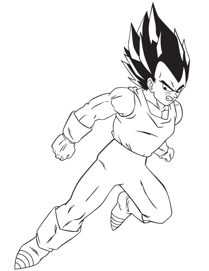 Dragon Ball Z Coloring Pages Vegeta