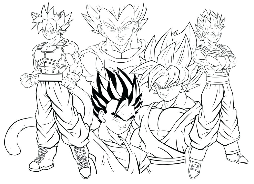 1024x743 Dragon Ball Z Coloring Pictures Minimalist Dragon Ball Z Coloring