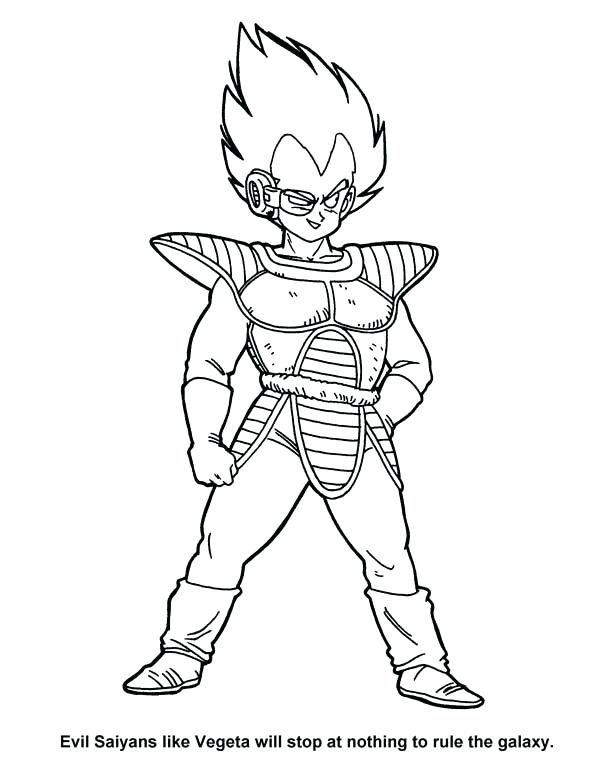 600x783 Idea Dragon Ball Z Vegeta Coloring Pages Or Evil In Dragon Ball Z
