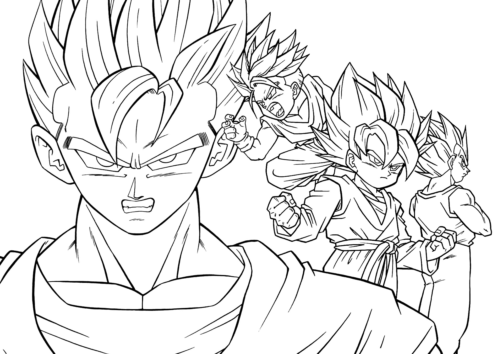2079x1483 Printable Dragon Ball Z Coloring Pages Gohan Best Of Goten