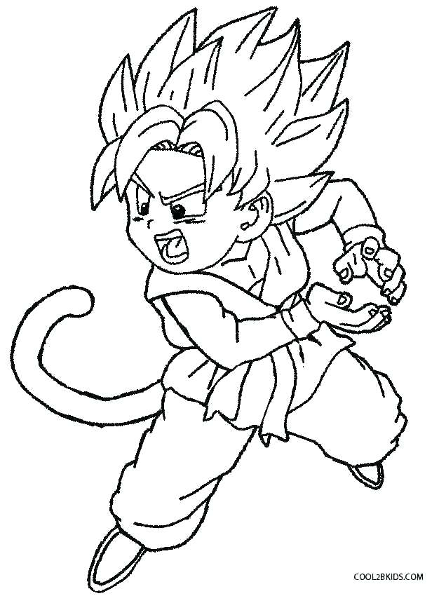 626x850 Dragon Ball Z Coloring Page Professional