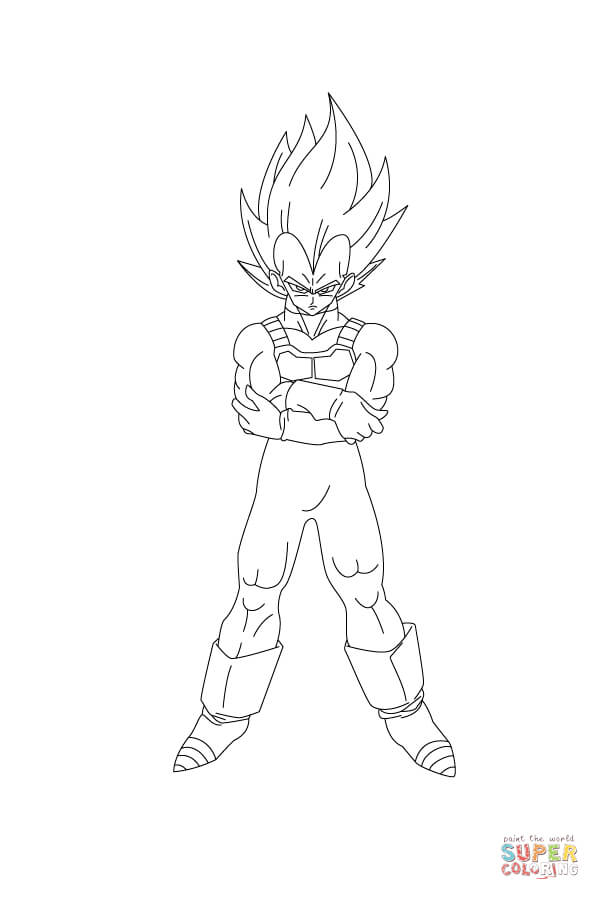 600x900 Vegeta Coloring Pages Vegeta Is Angry Coloring Page Free Printable