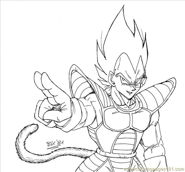 650x604 Vegeta Coloring Pages Vegeta Lineart Bk Coloring Page Free