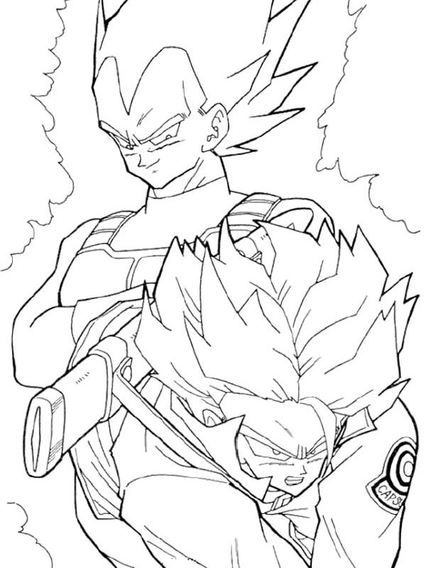 600x800 Coloring Sheet Vegeta Printable Free Pages From Dragon Ball Z