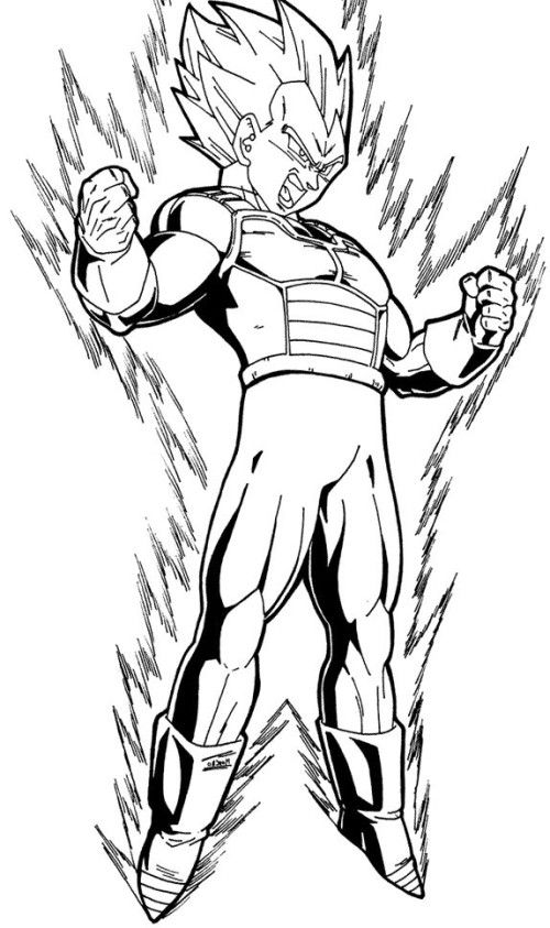 Dragon Ball Z Coloring Pages Vegeta at GetDrawings | Free ...