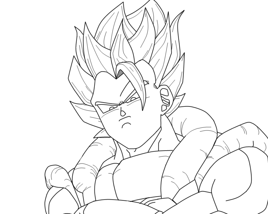 Dragon Ball Z Goku Super Saiyan Coloring Pages