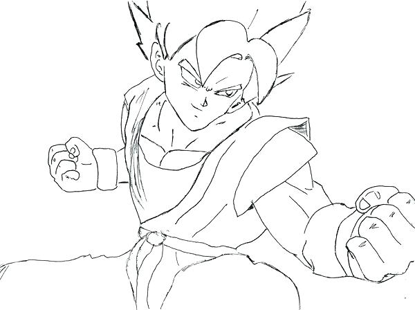 600x448 Dragon Ball Z Goku Coloring Pages Color Super Coloring Pages