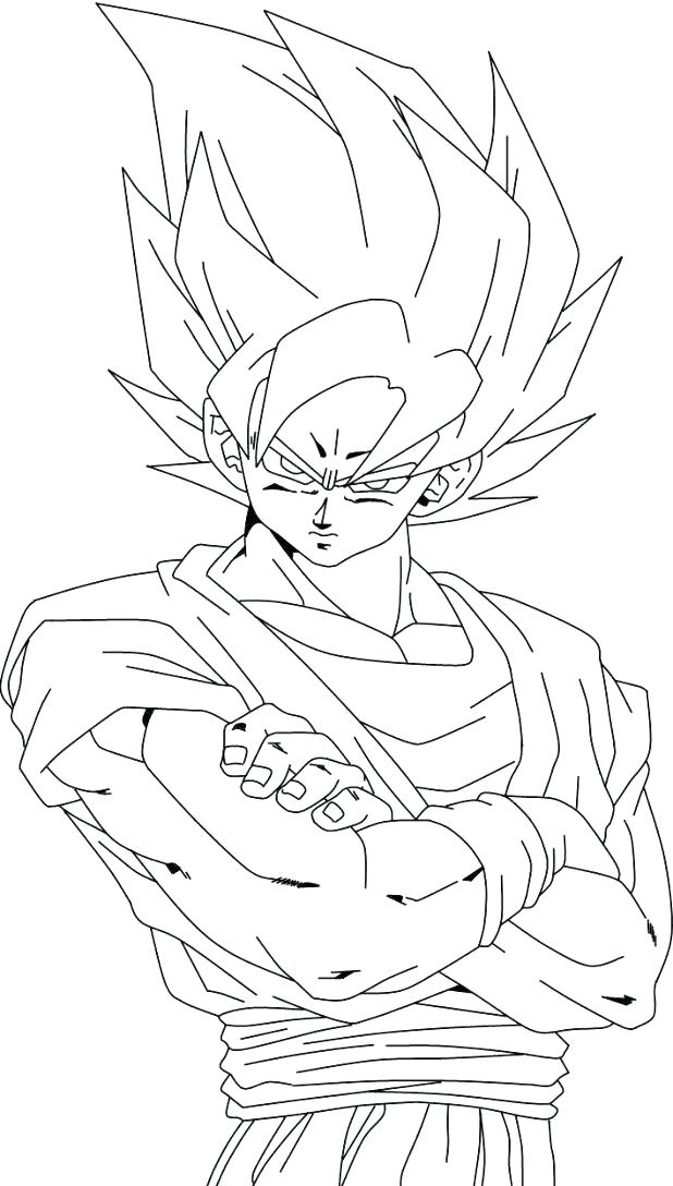 618x1088 Dragon Ball Z Goku Coloring Pages Coloring Page Dragon Ball Z