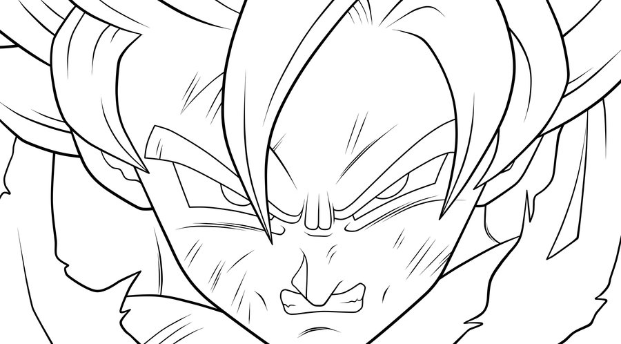 900x498 Dragon Ball Z Goku Super Saiyan Coloring Pages Coloring Pages