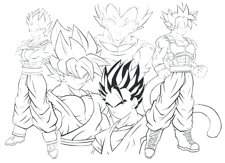 775x562 Goku Coloring Page Dragon Ball Z Coloring Pages Super Dragon