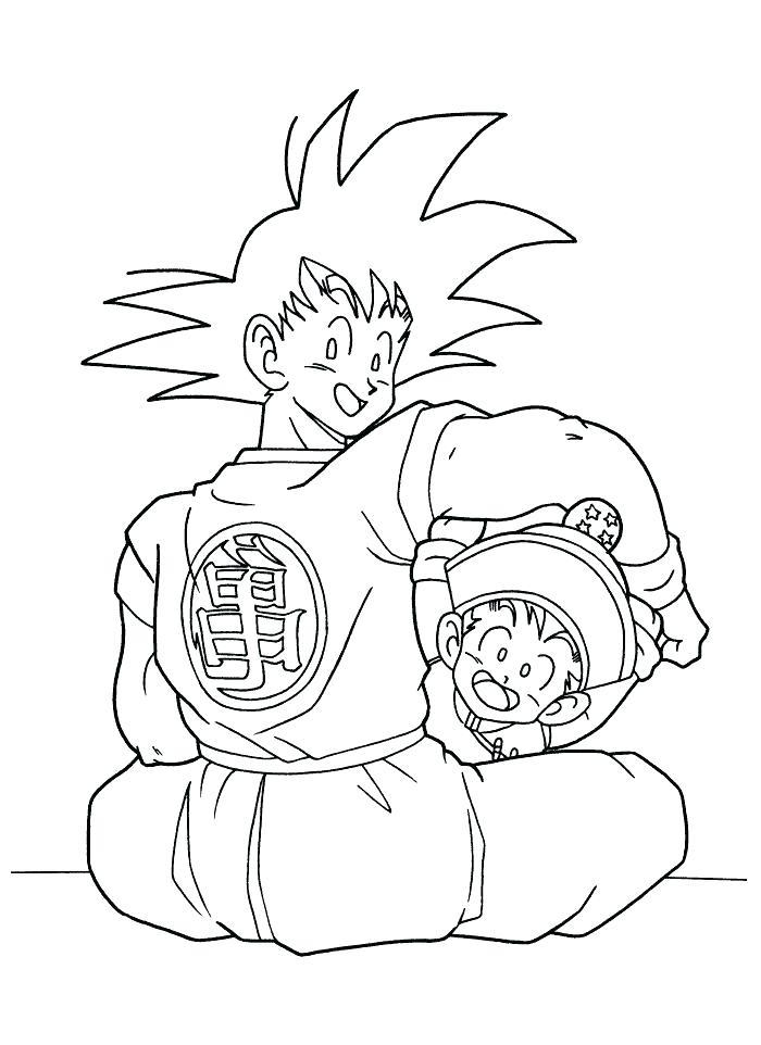Dragon Ball Z Goku Super Saiyan Coloring Pages at ...