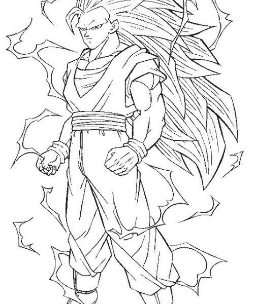 500x600 Goku Coloring Pages Characters Coloring Pages Coloring Pages