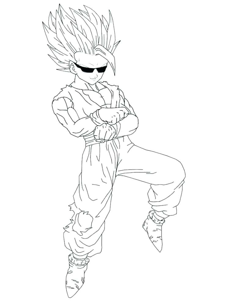 750x1000 Goku Super Saiyan Coloring Pages Super Coloring Pages Super