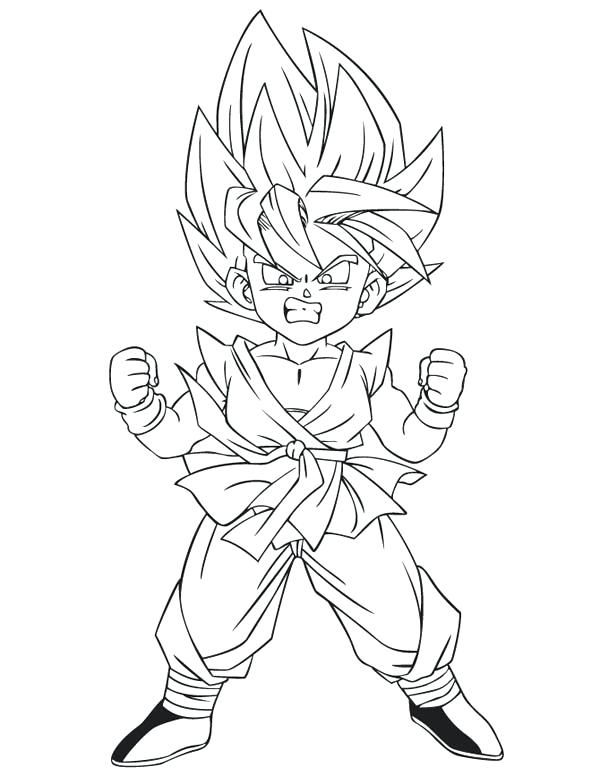 600x776 Goku Super Saiyan Coloring Pages Dragon Ball Z Coloring Pages