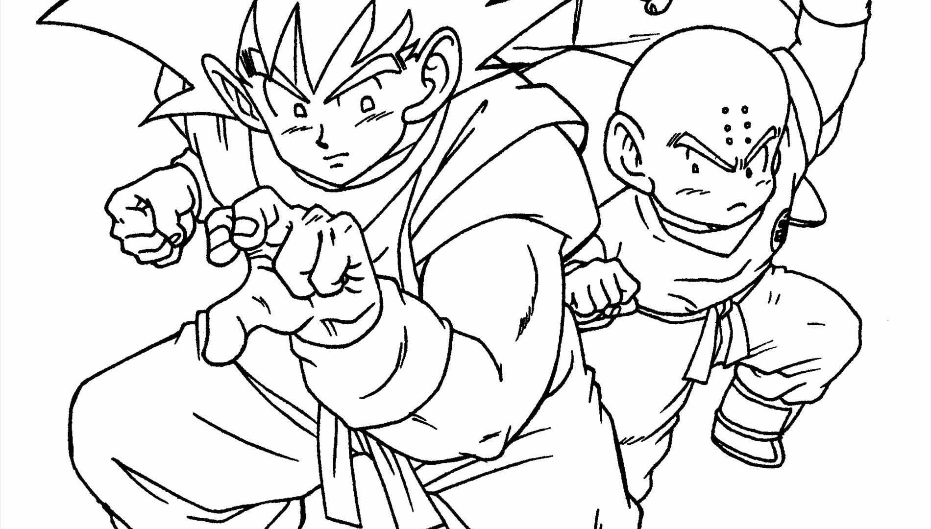 1900x1080 Goten Dragon Ball Z Anime Coloring Pages For Kids Printable Free