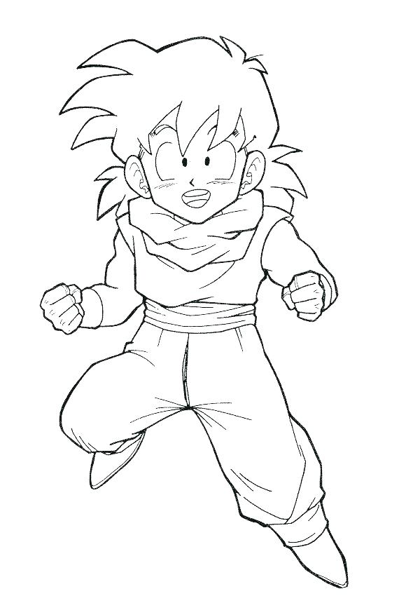 590x850 Super Coloring Pages Dragon Ball Z Charming Coloring Dragon Goku