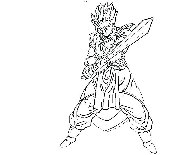 640x533 Super Saiyan Coloring Pages Dragon Ball Z Coloring Pages Super