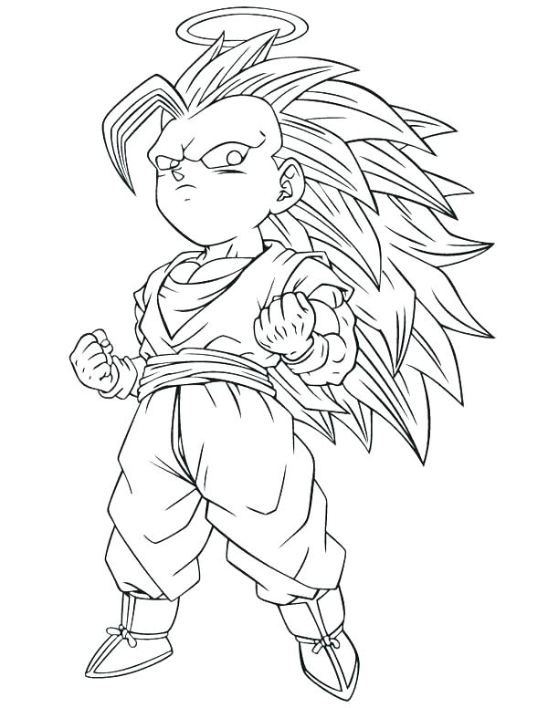 600x776 Super Saiyan Coloring Pages Super Coloring Pages Dragon Ball