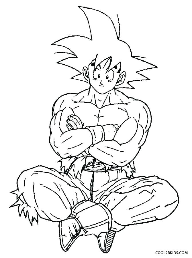 670x902 Dragon Ball Coloring Pages Icontent