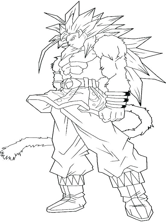 550x741 Dragon Ball Z Coloring Pages Goku Super Saiyan Coloring Pages