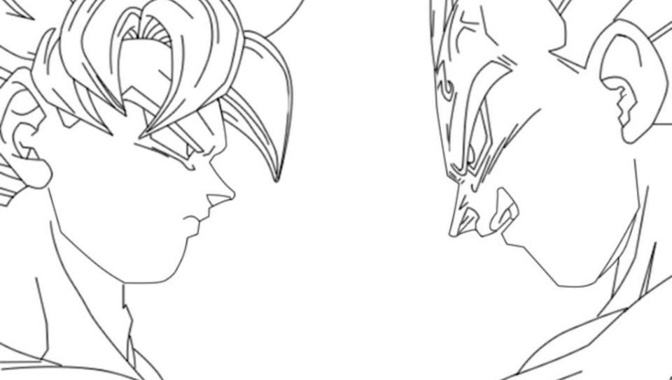 960x544 Dragon Ball Z Kai Coloring Pages Free And Vegeta Cartoons Sheets