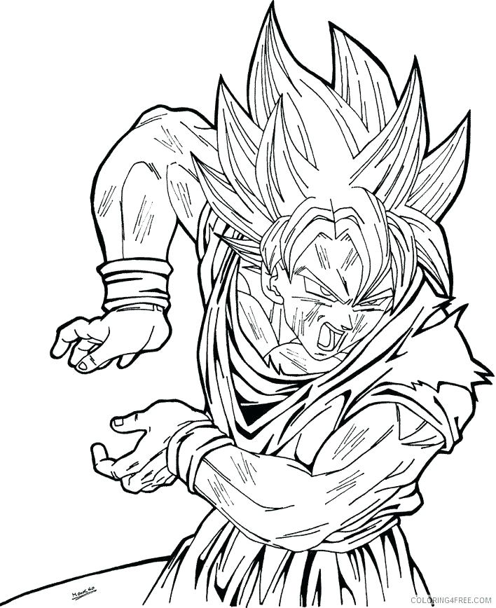 708x868 Dragonball Coloring Pages Dragon Ball Z Gt Colouring Pages