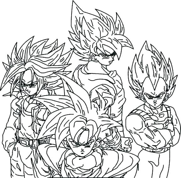 577x570 Printable Dragon Ball Z Coloring Pages Coloring Page Of A Dragon