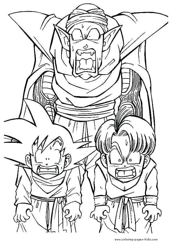 590x839 Printable Dragon Ball Z Coloring Pages Dragon Ball Coloring Pages