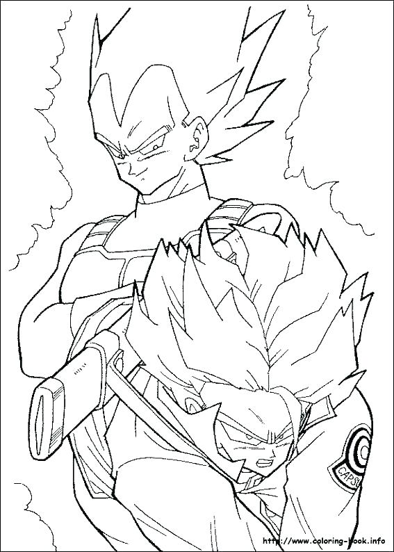567x794 Coloring Pages Of Dragon Ball Z Dragon Ball Z Coloring Pages