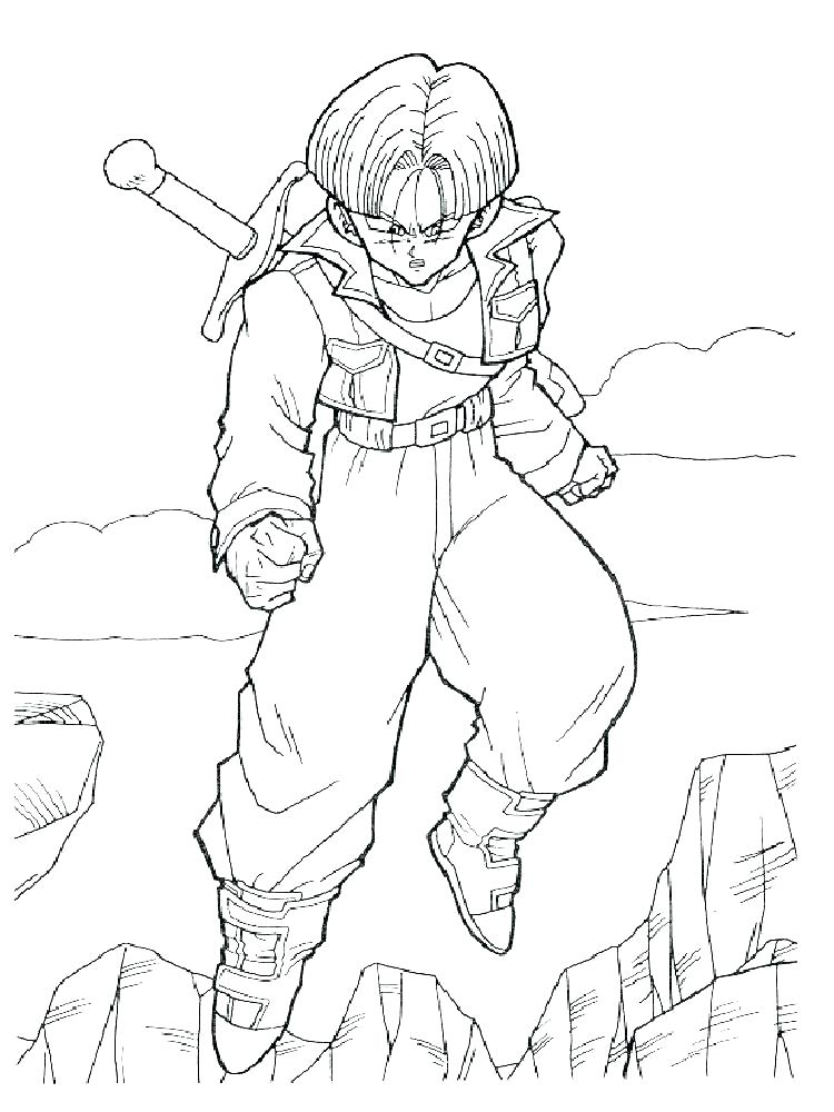 750x1000 Dbz Coloring Pages Kid Coloring Pages Medium Size Of Dragon Ball Z