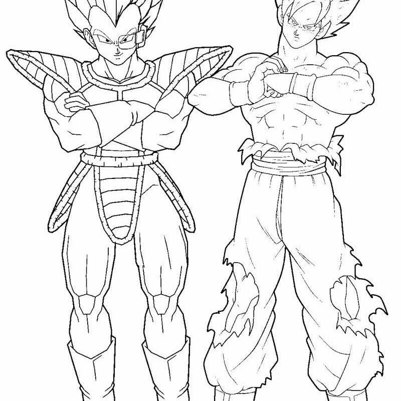 800x800 Dragon Ball Z Coloring Pages Goku Super Saiyan Dbz Gt Printable