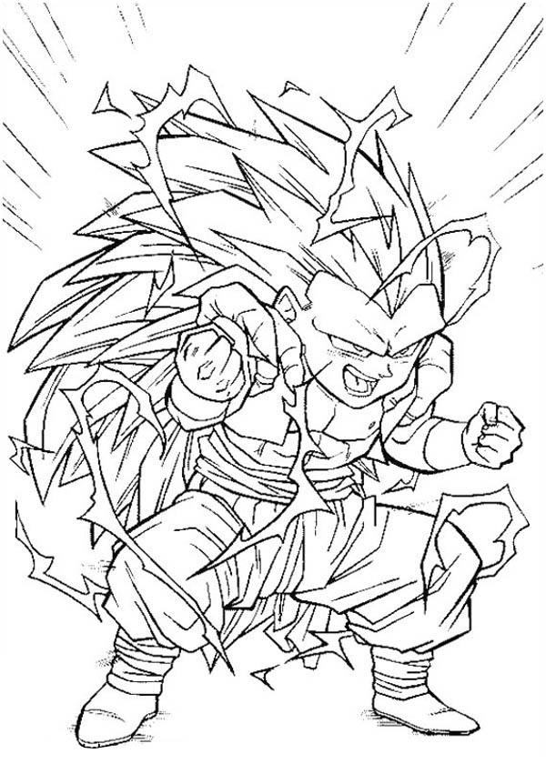 600x840 Dragon Ball Z Coloring Pages Super Saiyans