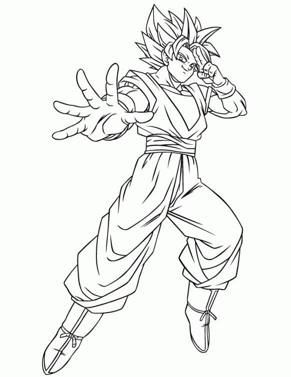 583x755 Dragon Ball Z Goku Using Instant Transmission Super Saiyan