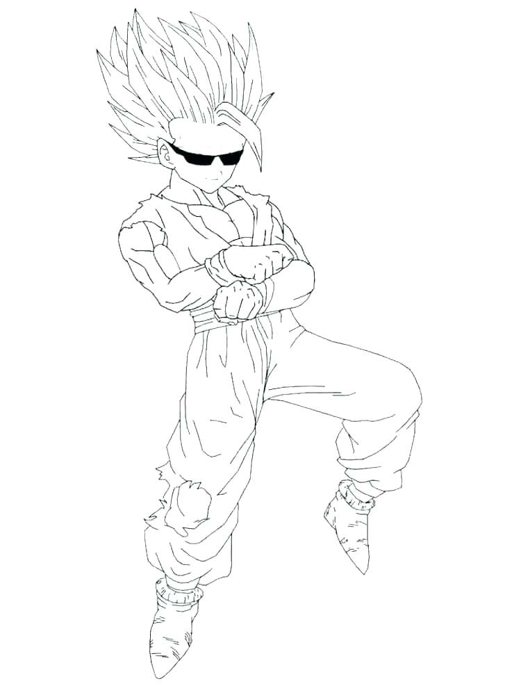 750x1000 Goku Super Saiyan Coloring Pages Dragon Ball Z Coloring Pages
