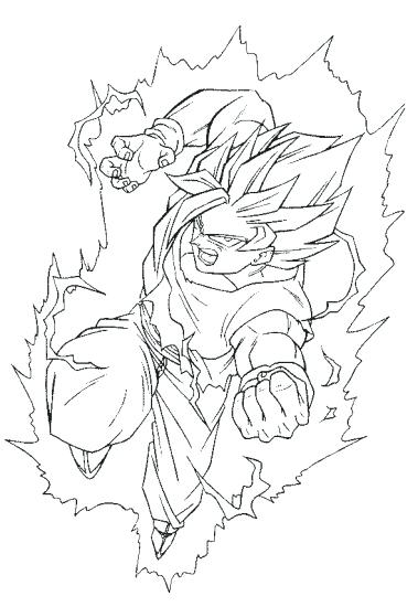 379x550 Goten Coloring Pages Dragon Ball Z Coloring Pages Super Goten