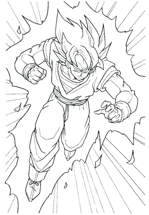 600x869 Super Saiyan Coloring Pages Dragon Ball Z Super Saiyan Coloring