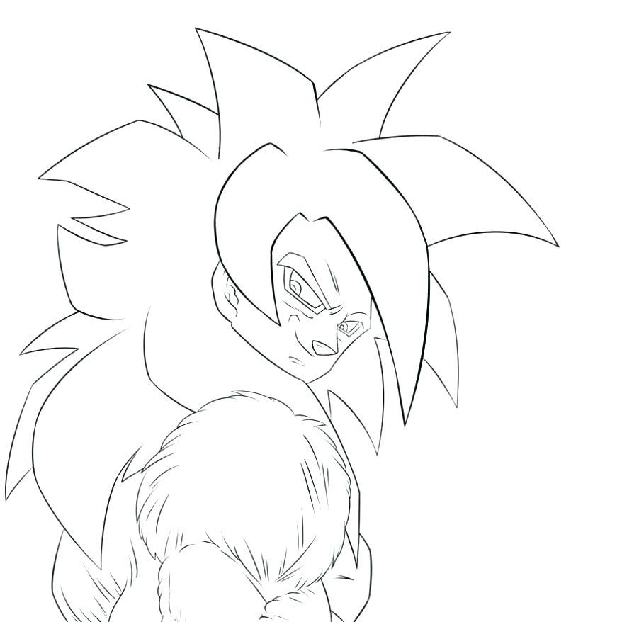 Dragon Ball Z Super Saiyan Coloring Pages At Getdrawings Com Free